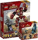 LEGO Marvel Super Heroes 76104–distruzione del Hulkbuster + LEGO Marvel Super Heroes 76101–Outrider Dropship di Attacco