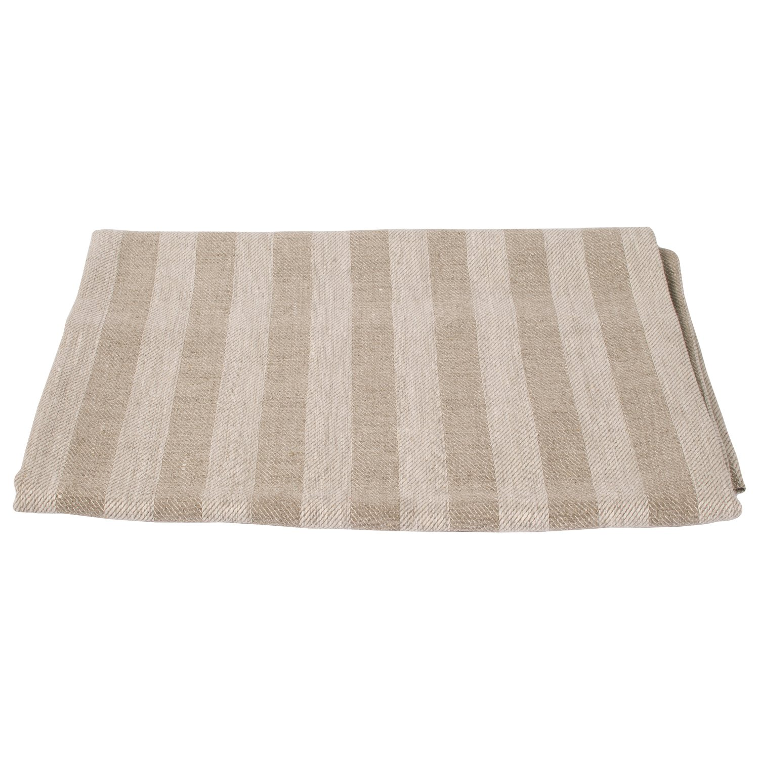 LinenMe Lucas X4 Bath Towels, 40 by 60-Inch, Natural Striped