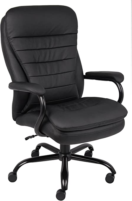 Boss Office Products Heavy Duty Double Plush LeatherPlus Chair - Runner Up