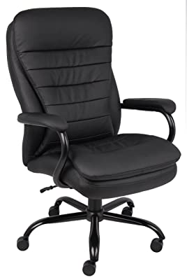 Boss Office Products B991-CP Heavy Duty Double Plush LeatherPlus Chair