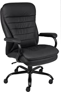 Boss Office Products Boss Office Heavy Duty Double Plush Caressoftplus Chair-400 Lbs, Black