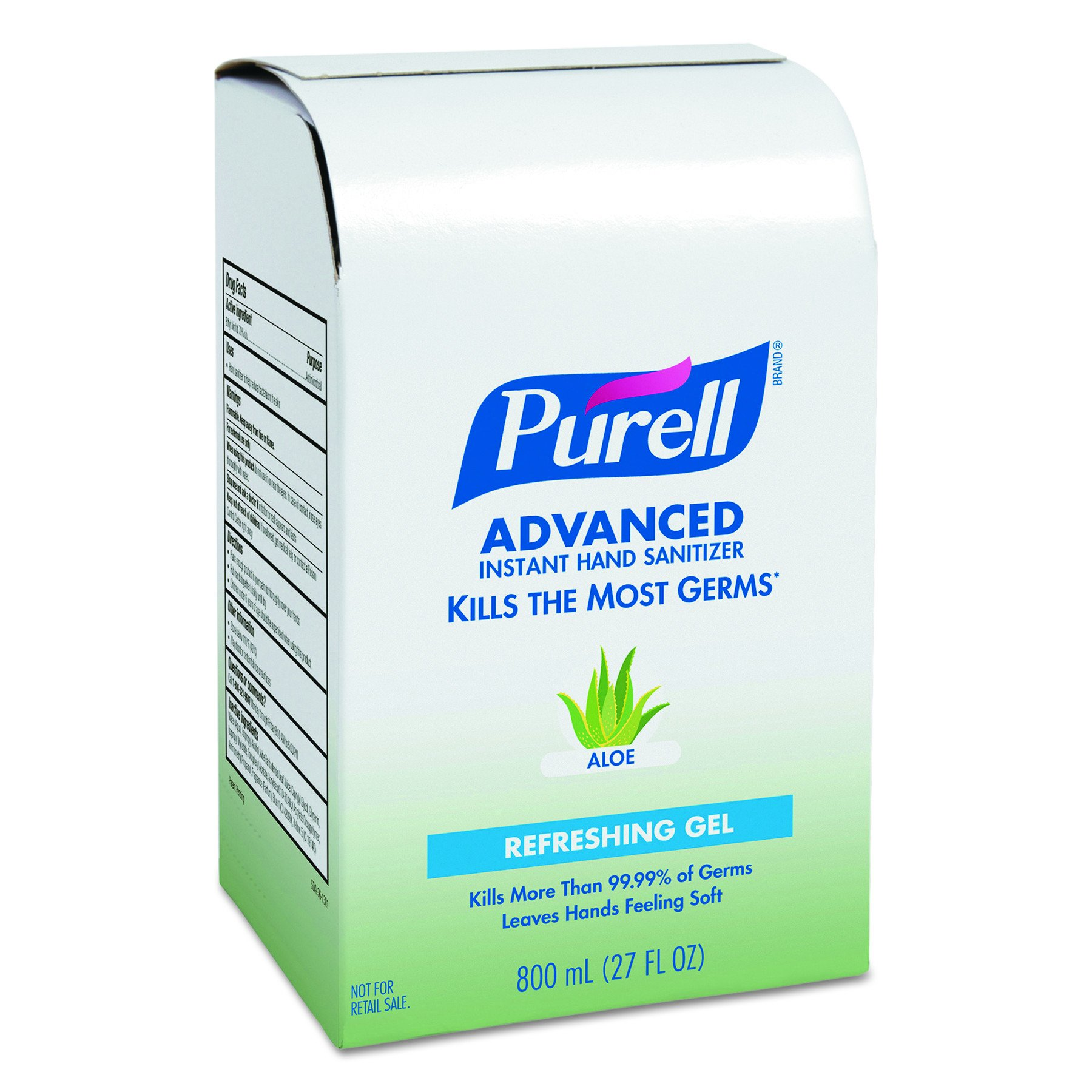 PURELL 9637 Instant Hand Sanitizer 800mL Refill, Aloe (Case of 12)