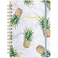 """Ruled Notebook/Journal - Lined Journal with Hardcover, 8.35"""" x 6.3"""", College Ruled Spiral Notebook/Journal, Back Pocket…"""