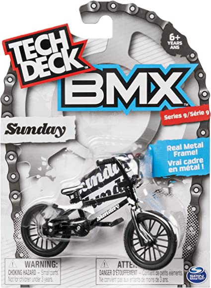 Amazon.com: Tech Deck BMX Serie 9 Sunday Black Finger Bike ...