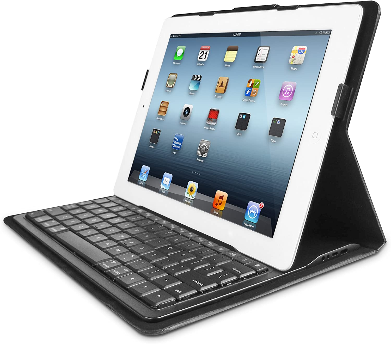 Amazon Com Iluv Executive Folio Cover With Bluetooth Keyboard For Ipad 4 Ick838blk Computers Accessories