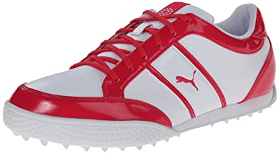 b556e65e265 PUMA Monolite Cat Spikeless Golf Shoes 2015 Womens White Raspberry Medium  5.5