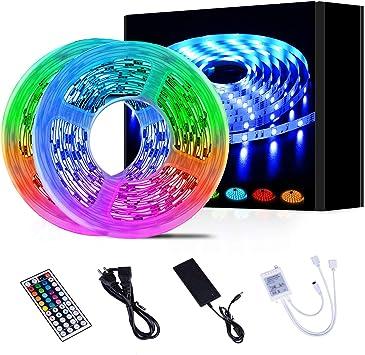 5M 5050 RGB 300 Led SMD Flexible Light Strip Lamp+44 key IR+12V 3A Power Supply