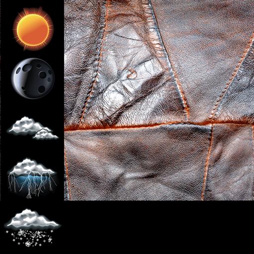 Leather Weather Clock Widget