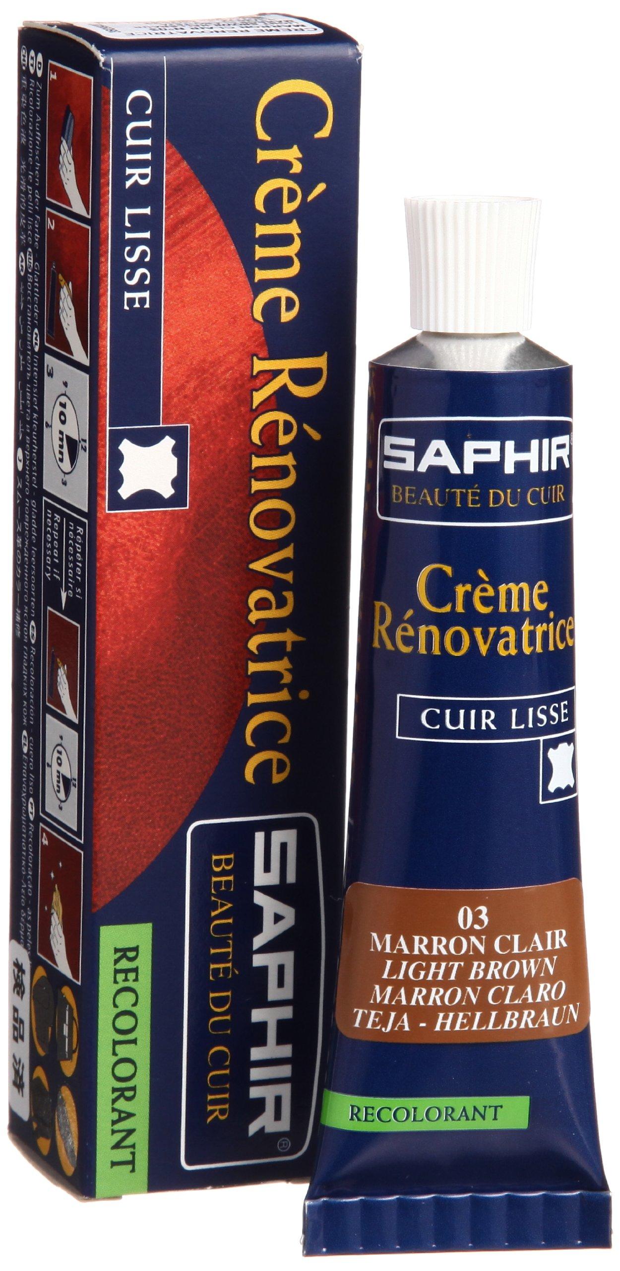 Saphir Renovating Cream - Tube - 25 Ml. (Light Brown)