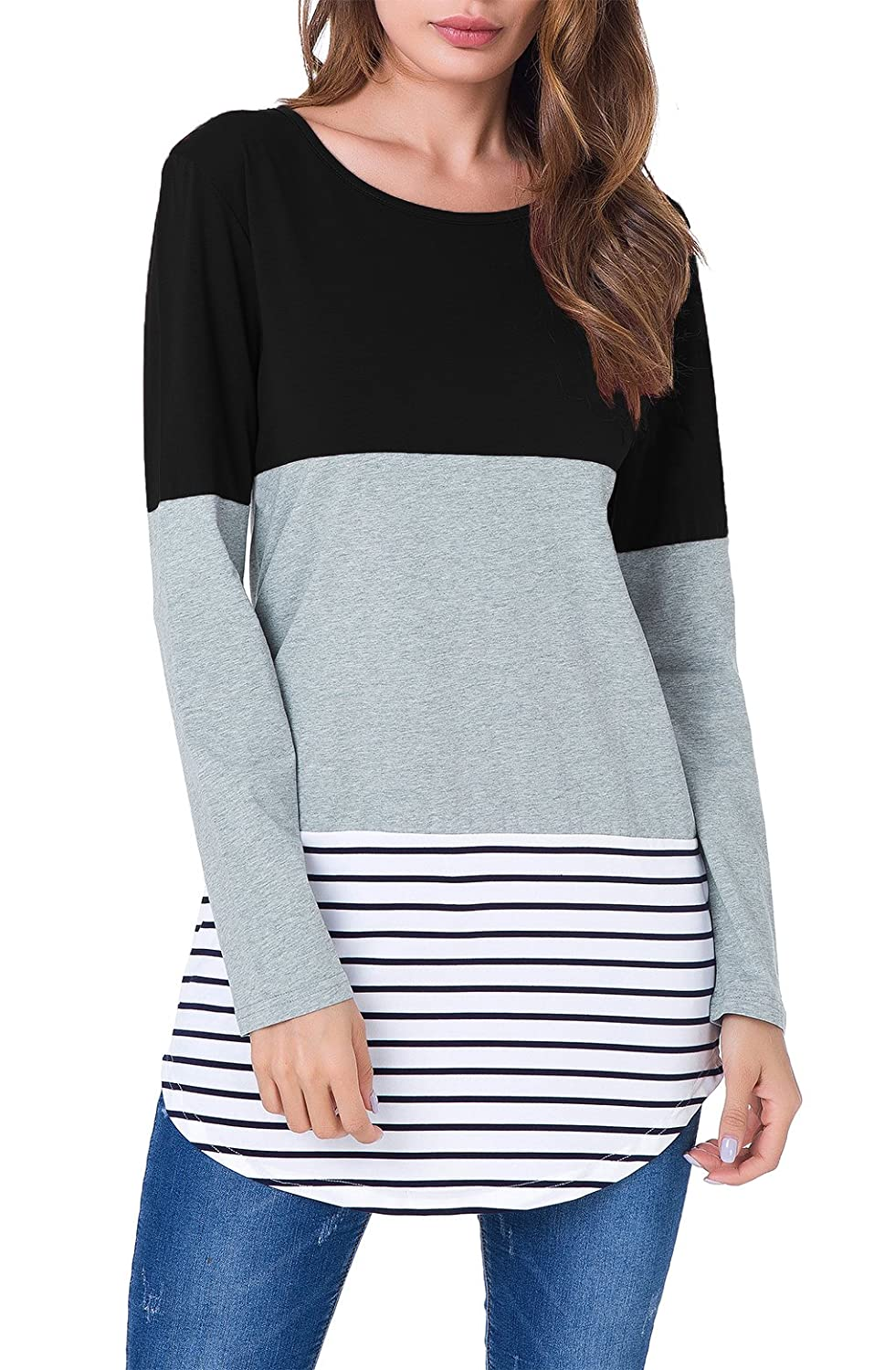 129744d5cca 100% Brand New,High quality,the material is lightweight and soft,stretch  fabric,breathable,comfort touched. Tunic tops;Casual O-Neck Long Sleeve ...