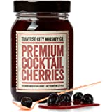 Premium Cocktail Cherries for Cocktails and Desserts | All American, Natural, Certified Kosher, Stemless, Slow-Cooked…