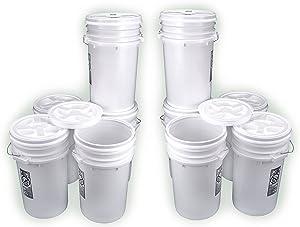 Bucket Kit, Ten White 6-Gallon Buckets with White Gamma Seal Lids