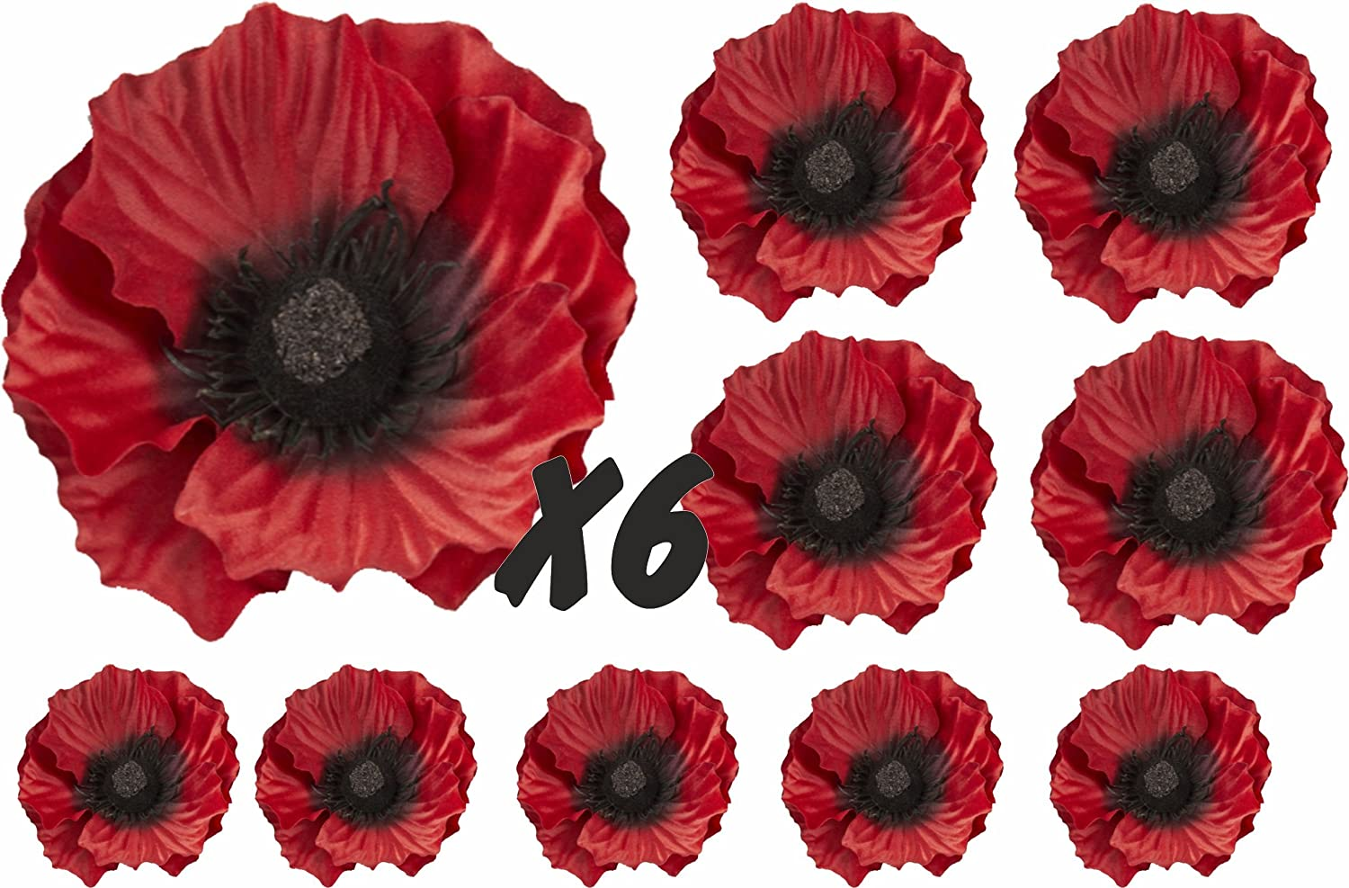 Dark Poppies Flower Decals Car Stickers Graphics Nursery Wall Window Decorations Art 10 Pack (10) WaterShed Designs