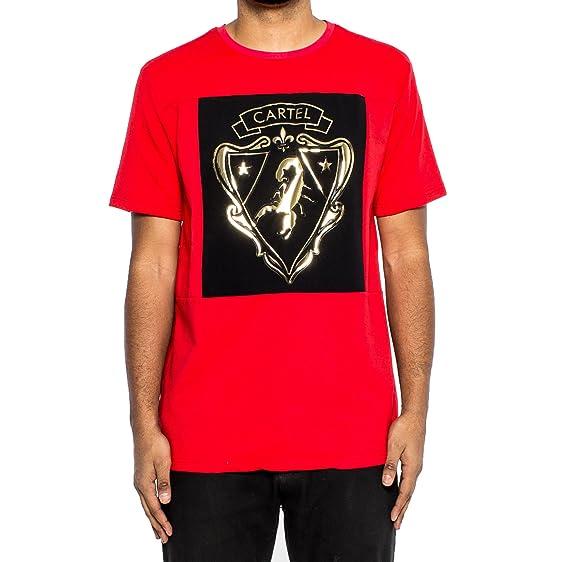 Hudson Gold Scorpion Ss Men S Shortsleeve T Shirt Red Black Gold