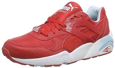 Sneakers Puma Bambino Trinomic R698 Mesh neoprene Rosse