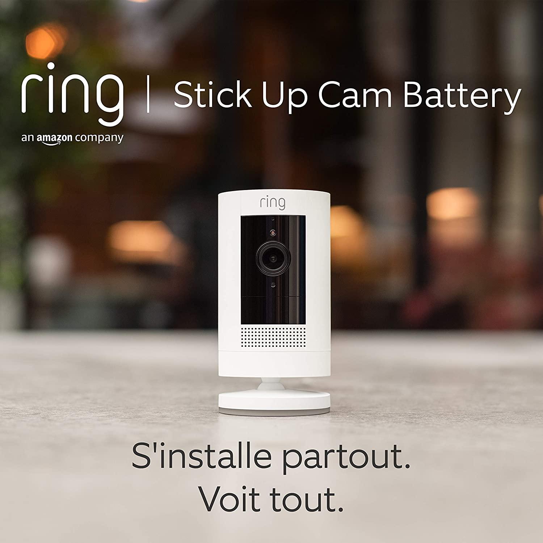 Ring Stick Up Cam Battery par Amazon, Caméra de surveillance HD avec...