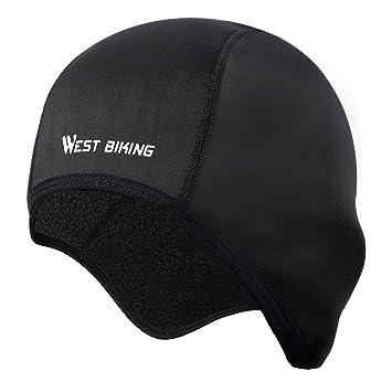 49ae47faa4f WESTGIRL Helmet Liner Skull Cap Beanie with Ear Covers