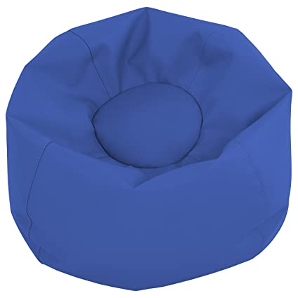 Beau ECR4Kids Junior Classic Bean Bag Chair, Blue (26u0026quot;)