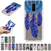 E-Mandala Coque Samsung Galaxy A6/A6 Plus 2018 Silicone Ultra Fine Housse Etui Transparente Motif