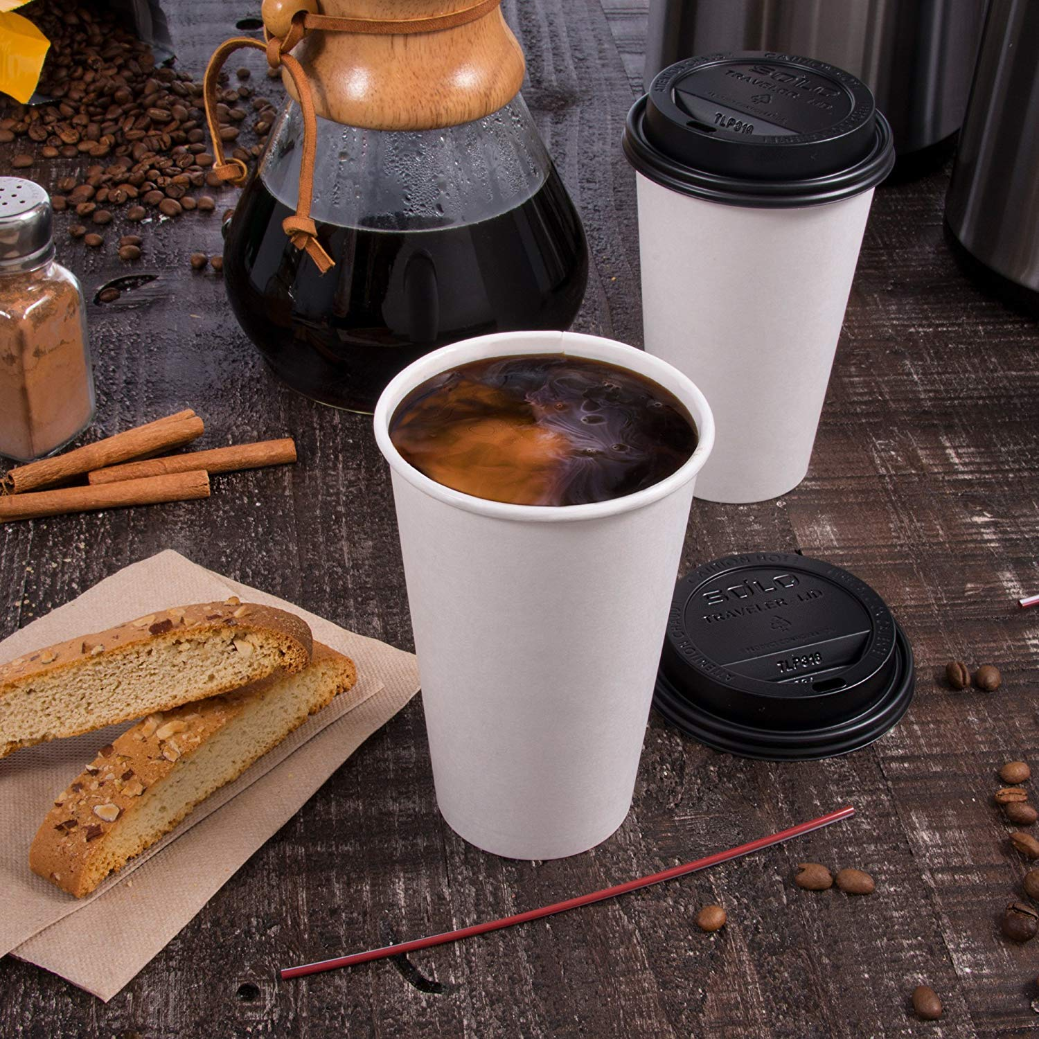 Solo 412WN-2050 12 oz White SSP Paper Hot Cup (Case of 1700) (12 oz (Case of 1700)) by Solo Foodservice (Image #5)
