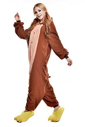 Amazon.com: NEWCOSPLAY Adult Unisex Monkey Onesie Pajamas Costume: Clothing