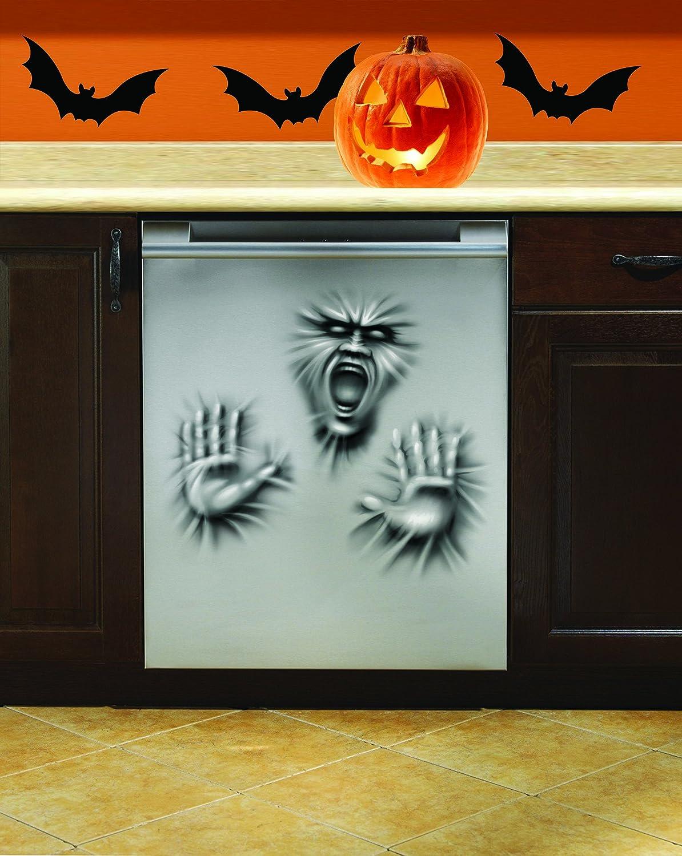 "Forum Novelties 79176 Dishwasher Door Cover Ghost Scary Horror Face Hands Halloween Prop Decoration, 30"""