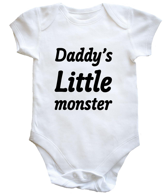 Hippowarehouse Daddy's Little Monster Baby Vest Boys Girls