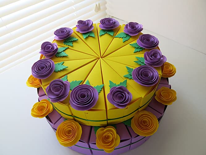 Amazon.com: 24 Cake Slice Favor Boxes For Mardi Gras Theme Party ...