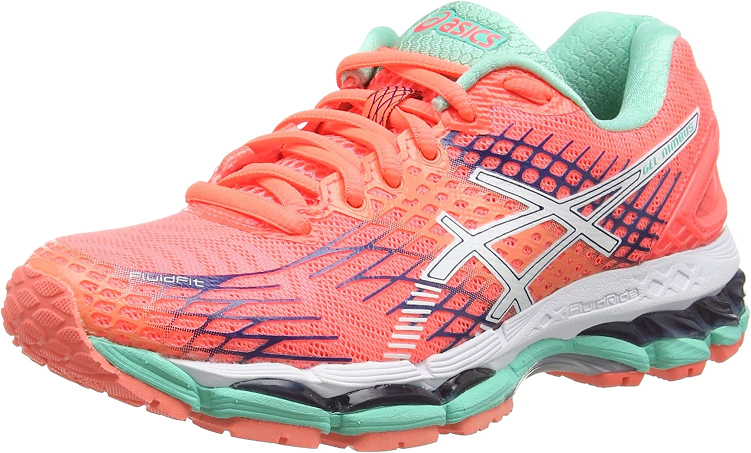 ASICS Gel-Nimbus 17 - Zapatillas de Running para Mujer, Color Rojo (Flash Coral/White/Indigo Blue 0601), Talla 35.5 EU (3 UK/5 US): Amazon.es: Zapatos y complementos
