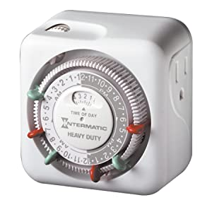 Intermatic TN311 15 Amp Timer for Indoor Lights and Decorations, Grounded