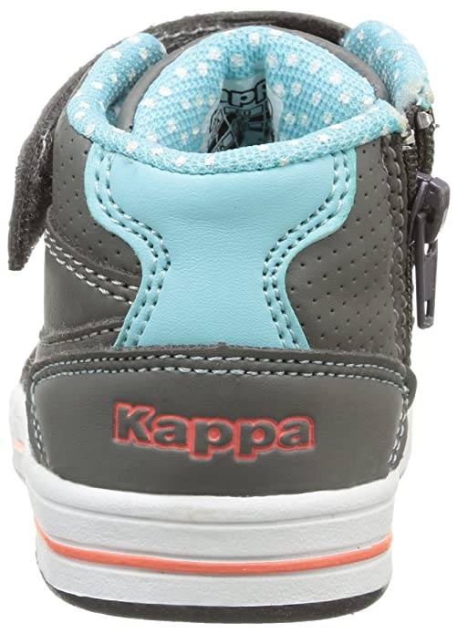 Kappa Alphor MD, Baby Mädchen Lauflernschuhe, Grau (952/dk Grey/Aqua Blue), 23 EU