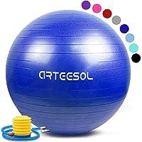 arteesol Gymnastikball, Yoga Ball 45cm/55cm/65cm/75cm/85cm Schwangerschaft Anti Burst Pilates Ball Klein mit Pumpe für Core Balance Birthing Training Fitness