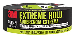 3M Extreme Hold Duct Tape, 2835-B, 1.88 Inches by 35 Yards