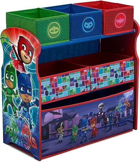 Bin Toy Organizer Organizador de Juguetes PJ Masks para Dormitorio de niños, decoración de Sala de Juegos, Catboy Owlette y Gekko