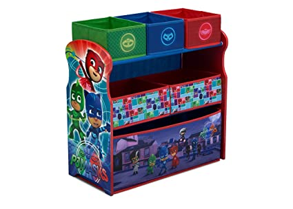 Bin Toy Organizer PJ Masks Kids Bedroom Playroom Decoration Catboy Owlette & Gekko