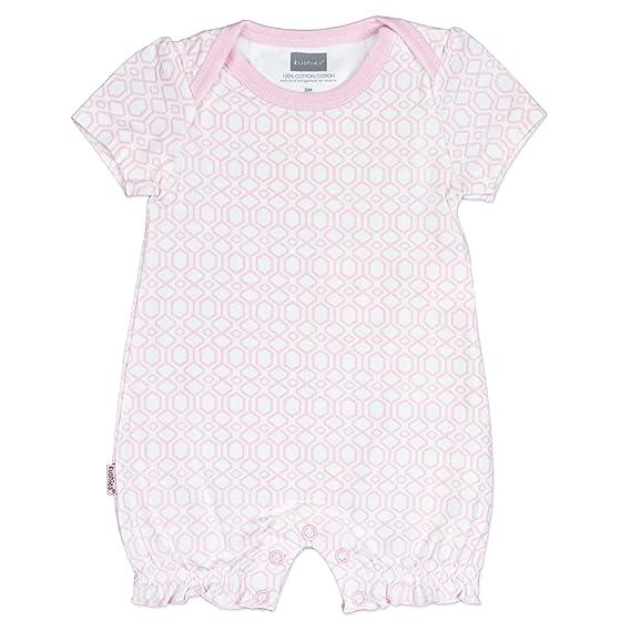 Amazon.com: Kushies Baby Girls Geo Print One-Piece Short Sleeve Romper Light Pink: Clothing