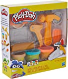 Play-Doh Toolin' Around Toy Tools Set for Kids with 3 Non-Toxic Colors