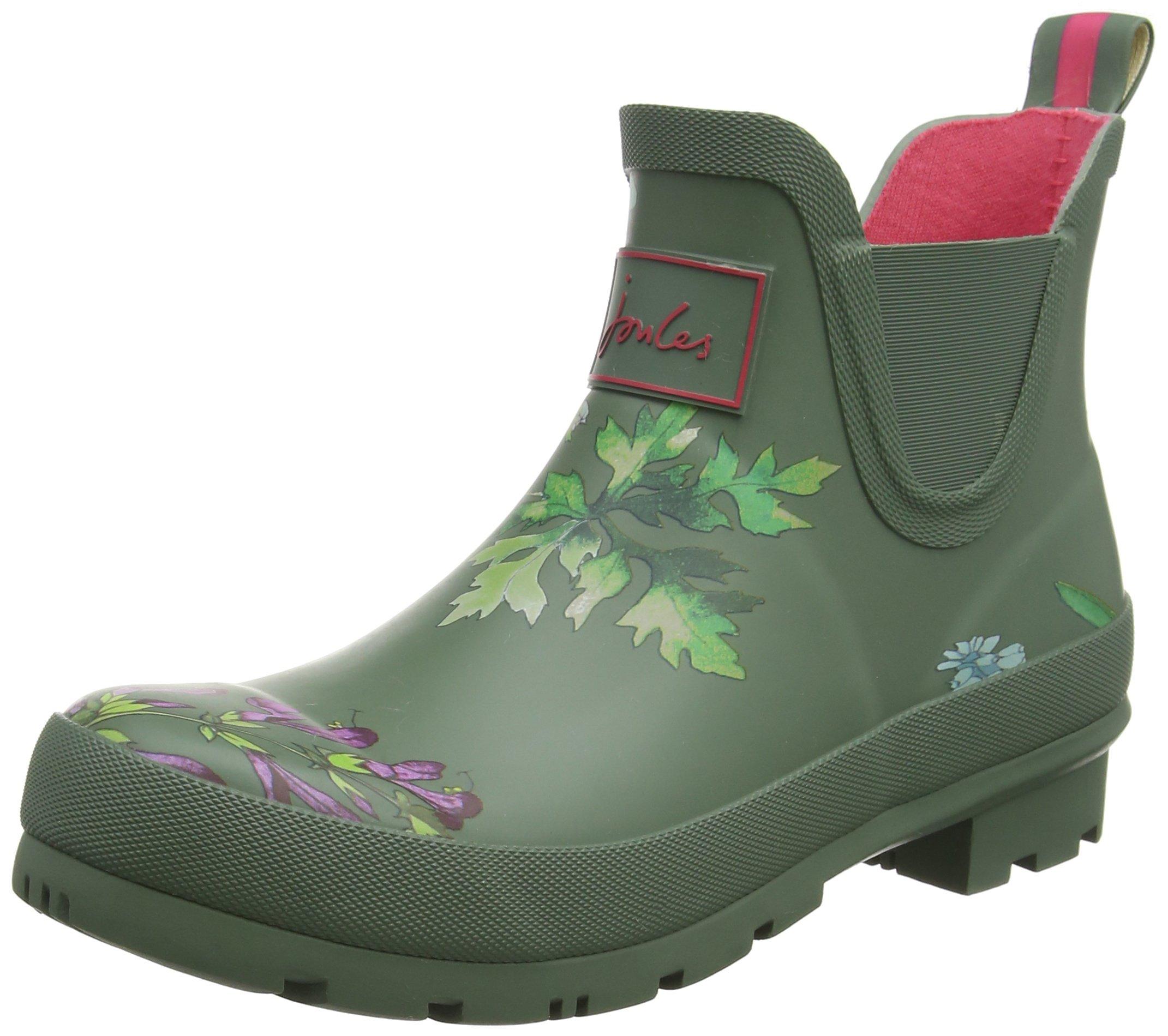 Joules Womens Wellibob Laurel Botanical Rubber Boots 7 US