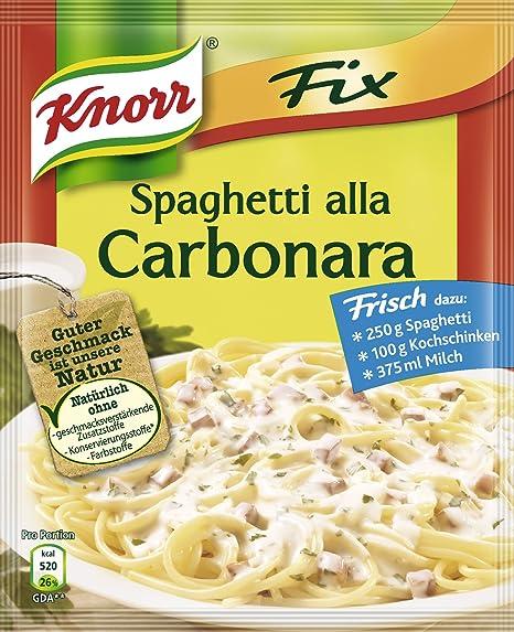 Knorr Fix para espaguetis carbonara, 27er Pack (27 x 38 ...