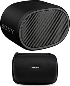 Sony XB01 Extra Bass Portable Bluetooth Speaker (Black) Bundle with Hard Travel Case (2 Items)