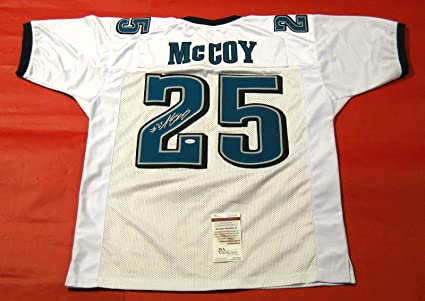 buy popular 8da80 a3b58 LeSean McCoy AUTOGRAPHED PHILADELPHIA EAGLES WHITE JERSEY ...