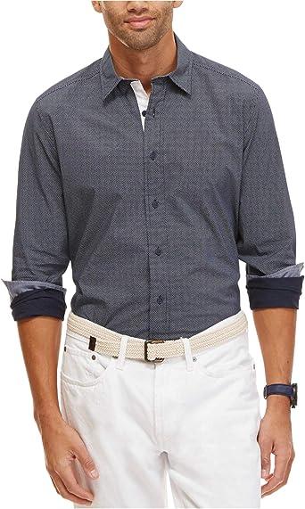 Nautica - Camisa de lunares para hombre - Azul - Large: Amazon.es: Ropa y accesorios
