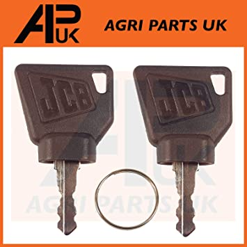 5pcs Ignition keys Replacement Part For JCB Parts 3CX Excavator Switch Starter