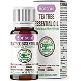 BONSOUL 100% Pure Organic Tea Tree Essential Oil - 10 ml