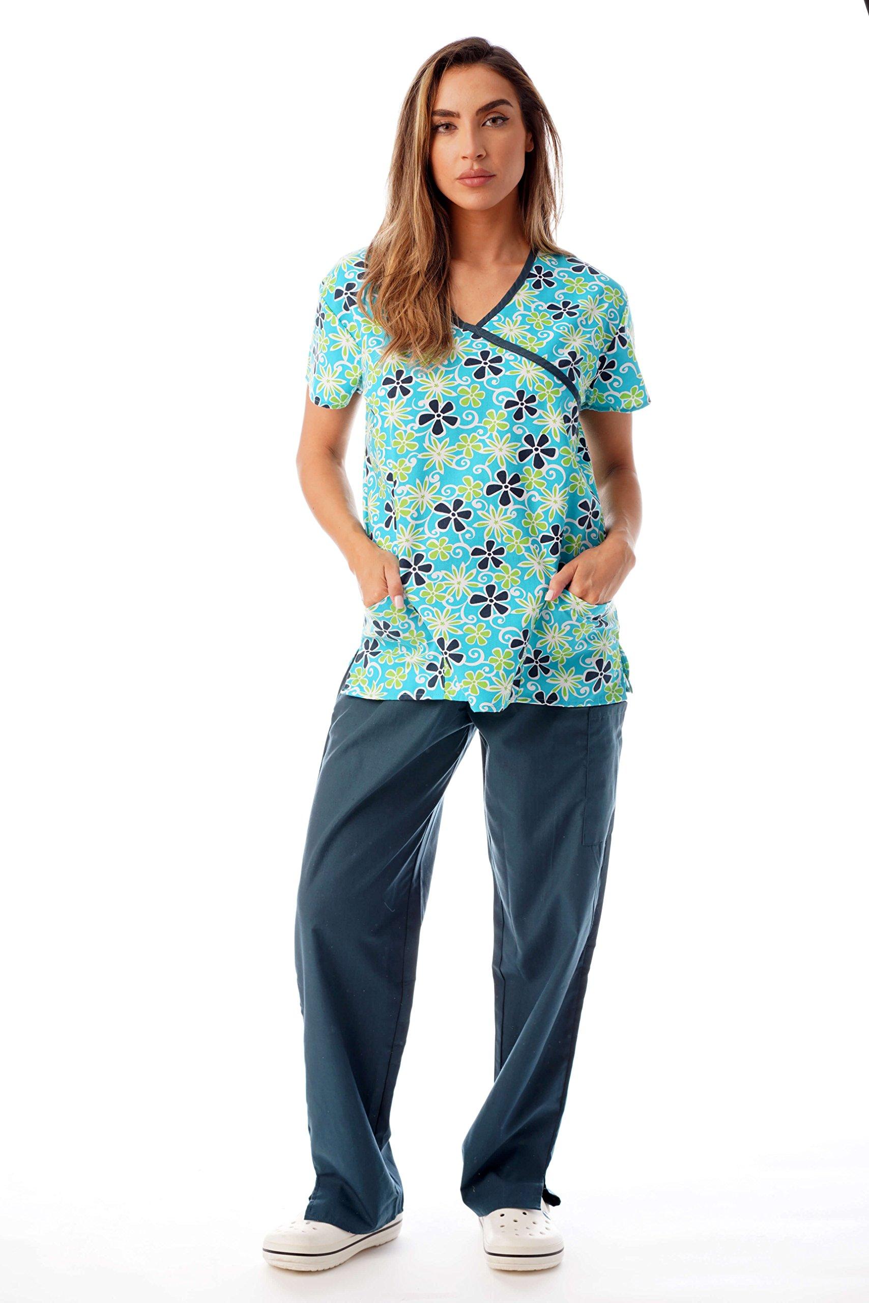Just Love Nursing Scrubs Set for Women Print Scrubs 1311W-12-L