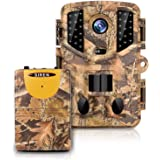 KINGCO Trail Camera Wireless Alarm, 3 Infrared sensors time-Lapse and 0.2s Trigger Speed Wildlife Scouting Camera 16MP/1080P