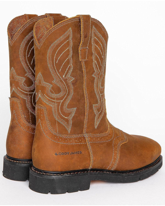 f5fa70062a6 Amazon.com   Cody James Men's Western Work Boot Steel Toe Brown 12 D ...