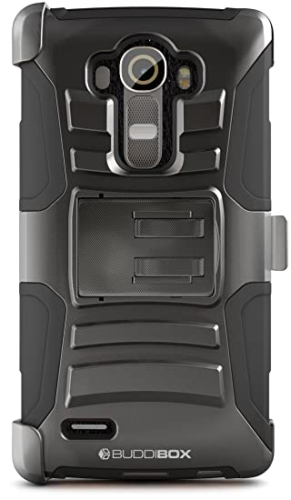 more photos 7811f 77b26 BUDDIBOX LG G4 Case, [HSeries] Heavy Duty Swivel Belt Clip Holster with  Kickstand Maximal Protection Case for LG G4, (Black)