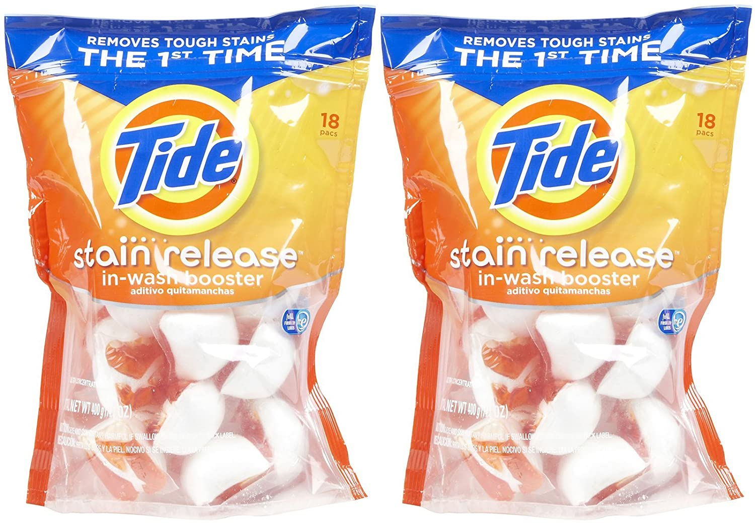 Amazon.com: Tide Stain Release In-Wash Booster - 2 pk: Health & Personal Care