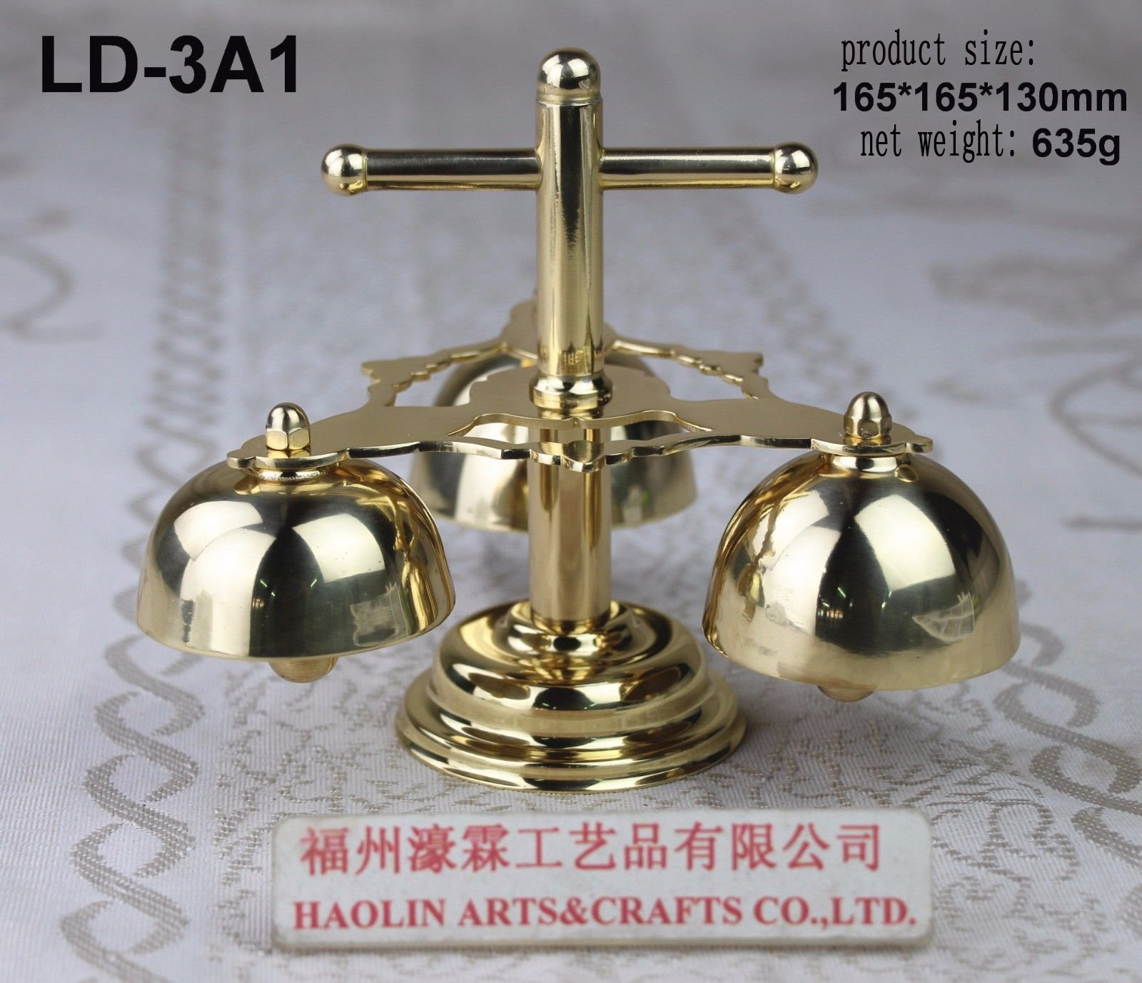 Church Altar Bell with Handle LD-3A1. Our company have 21 kinds of brass bell for your choice